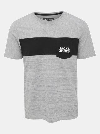 Šedé tričko s potiskem Jack & Jones Scoop