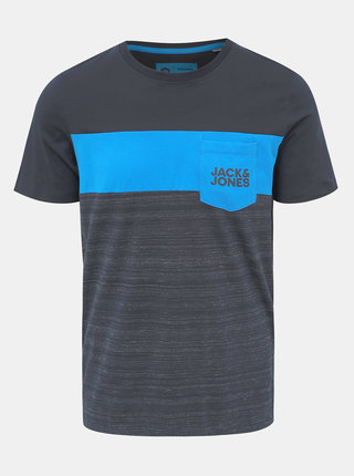 Tmavě šedé tričko s potiskem Jack & Jones Scoop