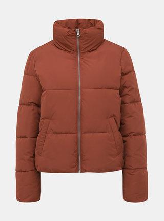 Hnedá zimná prešívaná bunda Jacqueline de Yong Erica