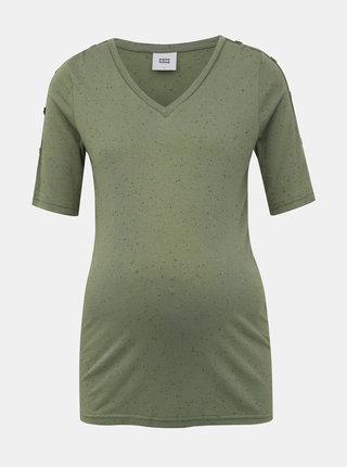 Zelené vzorované tehotenské tričko Mama.licious Sibby