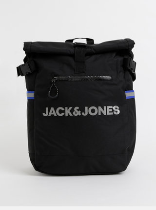 Čierny batoh s potlačou Jack & Jones Ben Roll