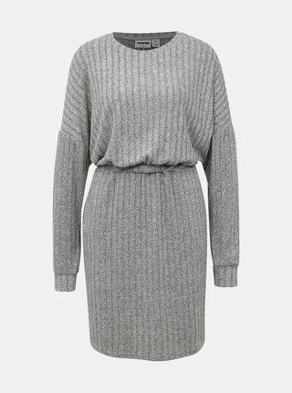 Šedé svetrové šaty Noisy May Softy