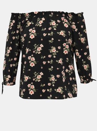 Černá dámská květovaná halenka Haily´s Vanny