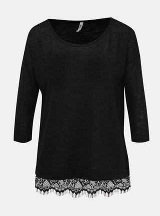 Černý dámský top s krajkou Haily´s Milla