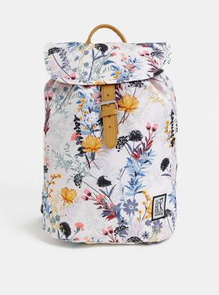 Biely dámsky kvetovaný batoh The Pack Society 10 l