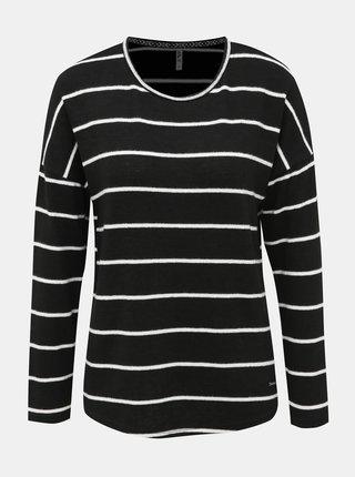 Čierny dámsky pruhovaný sveter Haily´s Elisa