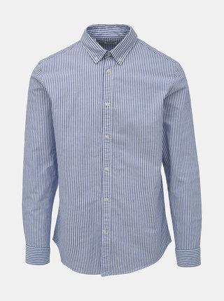 Modrá pruhovaná slim fit košile Selected Homme Slimox