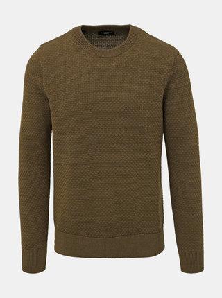 Khaki svetr Selected Homme Isak