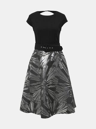 Čierne vzorované midišaty Dorothy Perkins