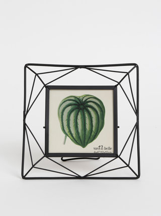 Čierny kovový fotorámik Sass & Belle 10 x 10 cm