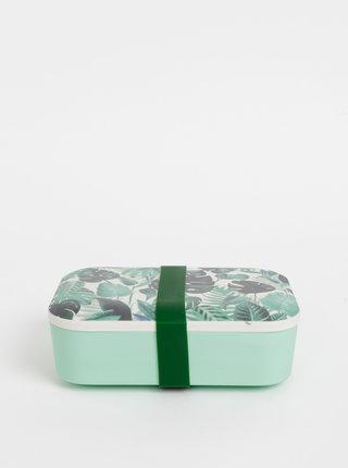 Zelený vzorovaný box na jídlo Sass & Belle
