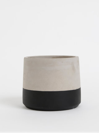 Světle šedý betonový květináč Sass & Belle