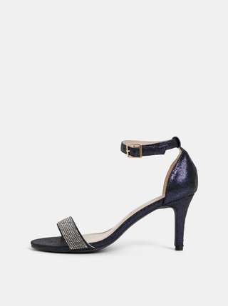 Tmavomodré metalické sandálky Dorothy Perkins