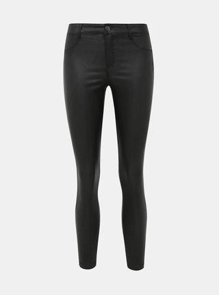 Černé koženkové super skinny fit džíny Dorothy Perkins Petite