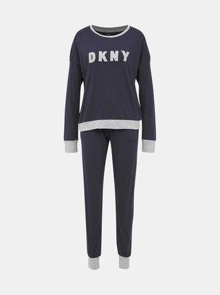 Tmavě modré dvoudílné pyžamo DKNY