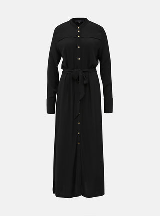 Černé košilové maxi šaty Selected Femme Hadley