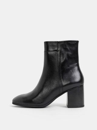Černé dámské kožené kotníkové boty Vagabond Nicole
