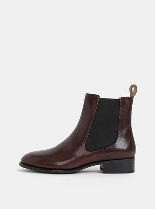 Tmavohnedé dámske kožené chelsea topánky Vagabond Java
