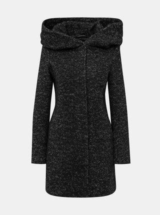 Tmavě šedý kabát s příměsí vlny VERO MODA Verodona