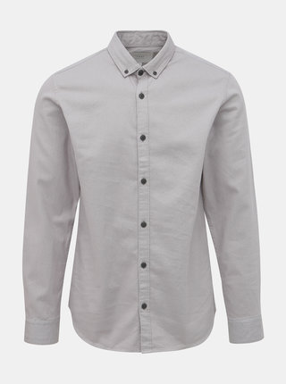 Šedá slim fit košeľa Jack & Jones Calgary