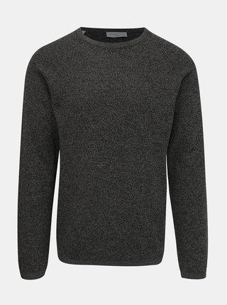 Tmavošedý basic sveter Selected Homme Shane