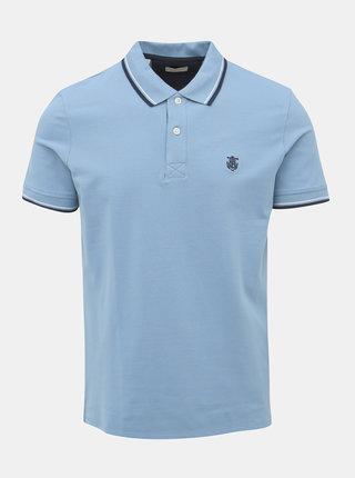 Modré pánské polo tričko Selected Homme
