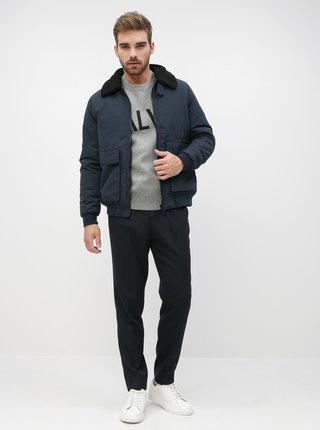 Tmavomodrá zimná bunda Burton Menswear London