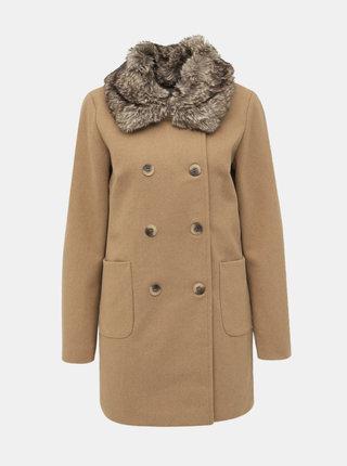 Svetlohnedý vlnený kabát VILA Kunne