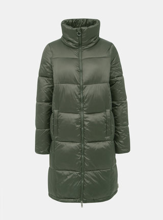 Tmavě zelený prošívaný zimní kabát VERO MODA Starlet