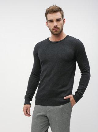 Tmavošedý pánsky basic sveter ZOOT