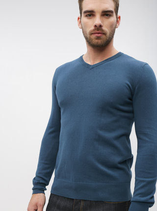Modrý pánsky basic sveter ZOOT