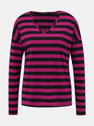 Modro-růžové pruhované basic tričko VERO MODA Sonia