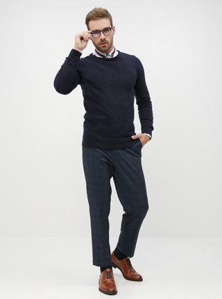 Tmavomodrý pánsky basic sveter ZOOT