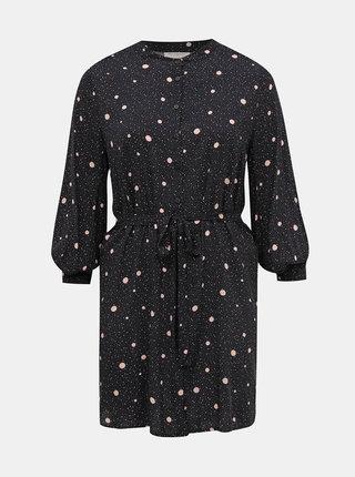Černé puntíkované košilové šaty ONLY CARMAKOMA Dot