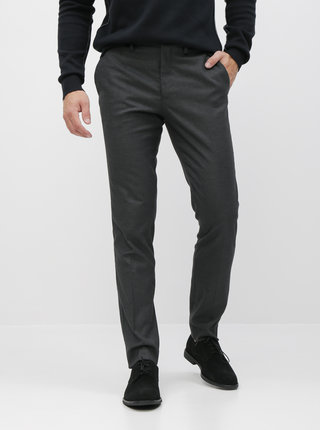 Tmavě šedé slim fit kalhoty Selected Homme Kent
