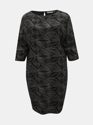 Černé sametové třpytivé šaty ONLY CARMAKOMA Salana
