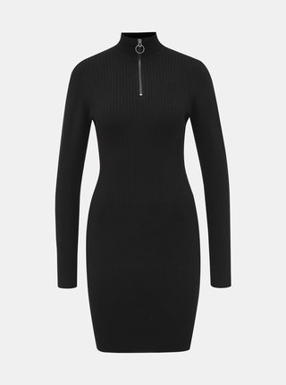 Čierne púzdrové svetrové šaty ONLY Tyra