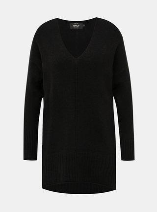 Čierny predĺžený sveter ONLY Clean