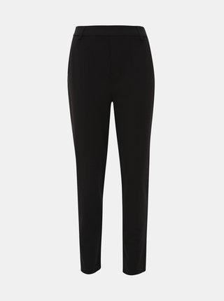 Čierne nohavice s koženkovým pásom ONLY Cool