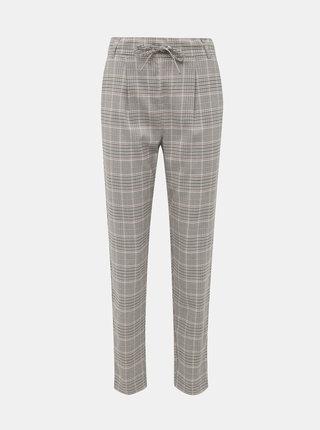 Šedé kostkované kalhoty ONLY Poptrash