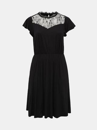 Černé šaty s krajkou ONLY CARMAKOMA Flavor