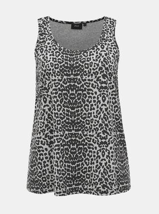 Šedé tielko s leopardím vzorom Zizzi Malba