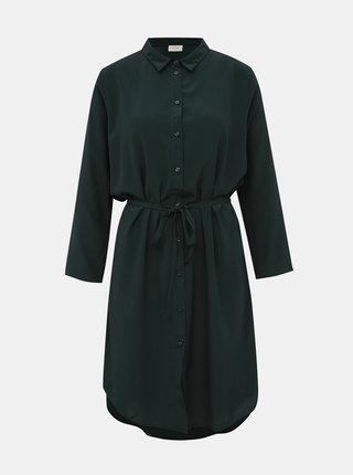 Tmavě zelené košilové šaty Jacqueline de Yong Pax