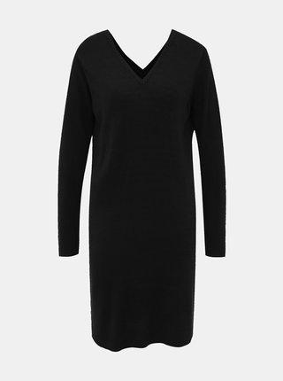 Čierne svetrové šaty Jacqueline de Yong Valley