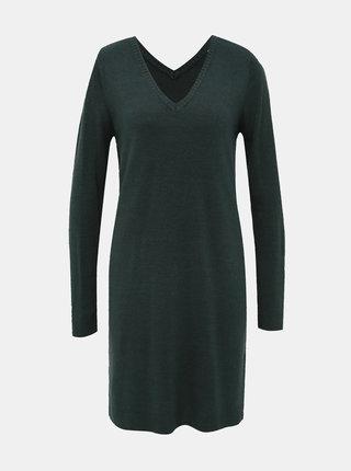 Tmavě zelené svetrové šaty Jacqueline de Yong Valley