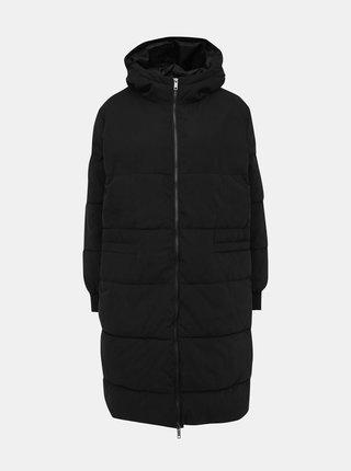 Černý zimní prošívaný kabát Jacqueline de Yong Noble