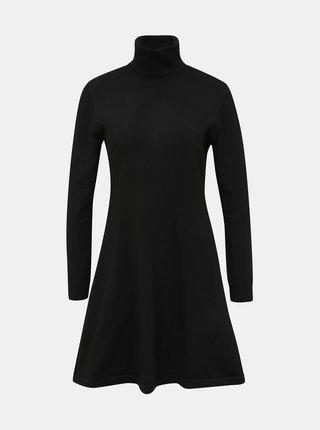 Čierne svetrové šaty s rolákom ONLY Julia