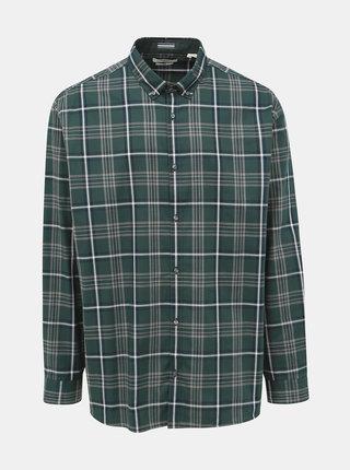 Zelená kockovaná slim fit košeľa Jack & Jones Focus