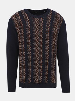 Tmavomodrý vzorovaný sveter Jack & Jones Stanley