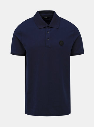 Tmavě modré slim fit polo tričko Jack & Jones Angus